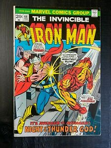 Iron Man #66 FN/VF Bronze Age comic featuring Thor!