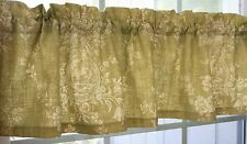 VALANCE - WAVERLY DILL GREEN AND BEIGE  COUNTRY HOUSE TOILE