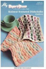 Lily KNITTED TEXTURED DISHCLOTHS Pattern using Sugar'n Cream 4 Ply Yarn #261