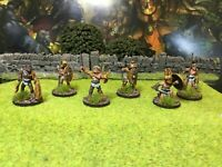 6 Well Painted Metal Gladiator Miniatures - Wargames Foundry