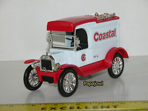 Ertl Collectible 1913 Ford Model T Coastal Lockable Coin Bank #6 In Series