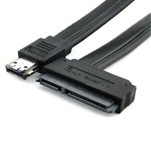 Dual Powers eSATA USB 12V 5V Combo to 22Pin SATA USB Hard Disk Cable Adapter DS