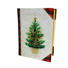 Punch Studio Merry Christmas Buffalo Check Book Decorative Desk Organizing Box