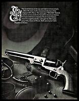 1971 COLT 1851 Navy Cap and Ball Revolver PRINT AD Old Gun Handgun Advertising
