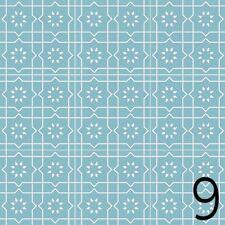 Fliesen Azulejos je 9,8x9,8 cm – 9 Designs Aufkleber Set - 36 Sticker / Design 9