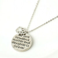 Family Gift Necklace Pendant The Love Between Mother and Daughter Love Jewelry