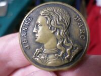 Old Antique Button, Jeanne D'arc, Patented March 12 1878