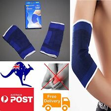 Pair Elbow Support Brace Arm Guard Bandage Wrap Sleeve Injury Arthritis GYM AO