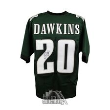b9c21f0910f Brian Dawkins Autographed Philadelphia Eagles Custom Green Football Jersey  - JSA