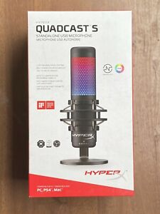HyperX QuadCast S-RGB USB Condenser Microphone for PC, PS4, and Mac | FAST SHIP