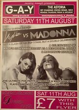 MADONNA-KYLIE MINOGUE-G-A-Y PROMO HEAVEN FLYER-BETTER THE DEVIL-LIKE A PRAYER