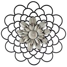 Black & White Layered Metal Wall Flower. stands out Piece of Art. Home Decor