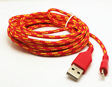 Strong Braided USB Charger Cable Data Sync Charge Cord for iPhone 5 6 7 8 X plus