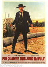Lee Van Cleef For A Few Dollars More Clint Eastwood Spaghetti Western Poster New