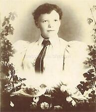 CABINET CARD PHOTO: Post Mortem MEMORIAL Light Skin AFRICAN AMERICAN WOMAN ID'd