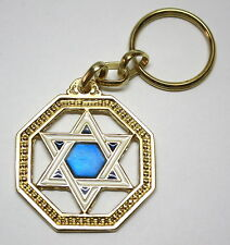 Star of David Magen Israel Judaica Kabbalah Key Ring Chain Jewish Hebrew Gift