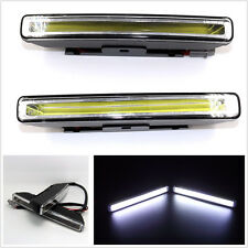20W COB 6000K Xenon White LED Light aluminum alloy DRL Driving Fog Lamps E4 Mark