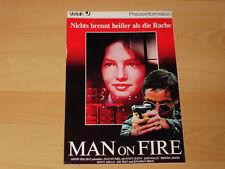 MAN ON FIRE - Presseheft ´88 - SCOTT GLENN Brooke Adams JOE PESCI Danny Aiello