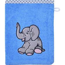 Wörner Waschhandschuh 2er-Pack mit hochwertigem Stickmotiv, blau