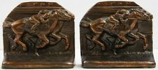 """Pair of Jockey Bronze Bookends"""