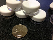 100 Beauty Containers Empty 3 Gram Plastic Small Cosmetic Jars 3 Ml White Lids .