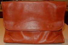 J. P. Ourse & Cie. Geneve Brown Leather Messenger Style Bag Purse
