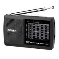 DEGEN-321 FM1-2/MW/SW1-8 Radio World Band full Band Receiver 3.5mm Earphone Jack