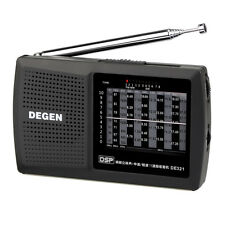 DEGEN-321 FM1-2/MW/SW1-8 Radio World Band full Band Receiver 3.5mm Earphone Jack