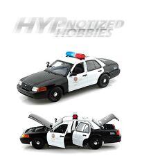 DARON 1:18 LAPD LOS ANGELES POLICE DIECAST BLACK/WHITE 60326MJ