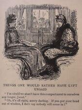 Ferrocarriles Y Trenes tema dos mujeres bastante las cosas no saber Antiguo Punch Cartoon