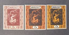 "GERMANIA,Germany  Reich SARRE SAARGEBIET 1922  "" 1Fr. Variant Colour.85 U"" 3V MH"