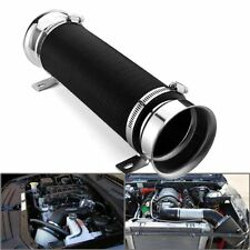 "3"" Flexible Adjustable Car Turbo Cold Air Intake Duct Inlet Pipe Hose Kit Silver"