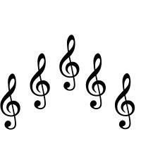 5 Aufkleber 10cm schwarz Violinschlüssel Notenschlüssel Auto Tattoo Deko Folie
