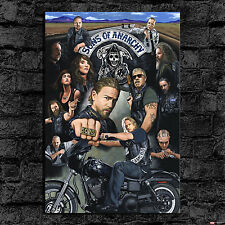 Oil Painting HD Print Wall Decor Art on Canvas Sons of Anarchy 24x36inch Unframe