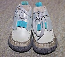 Livie & Luca Baby Boys Gray Ankle Boots (Rover) - Size 4 - NEW (No Box)