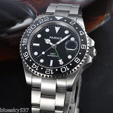 Parnis 40mm Sapphire Glass GMT Ceramic Bezel Automatic date Men Wrist Watch