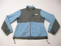 THE NORTH FACE Womens Size S Full Zip Windbreaker Blue/Gray Denali Fleece Jacket