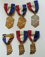 Lot of 6 Vtg. Northern Indiana & State Auditions Music Festival Badge Medal Pin