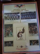 1984 USA Gold Basketball Poster Michael Jordan Olympics 22 x 30 Bob Knight RARE