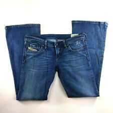 DIESEL LOWKY B.C 008DW Stretch Distressed Denim Flare Jeans 28x30 Made in ITALY