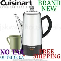 New Cuisinart Classic 12-Cup ELECTRIC COFFEE PERCOLATOR Stay Cool Touch No Drip