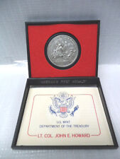 United States LT Col John E. Howard America's first medals pewter W/ case (1321)