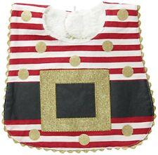Mud Pie Unisex-Baby Newborn Santa Belt Bib, Red/White, One Size