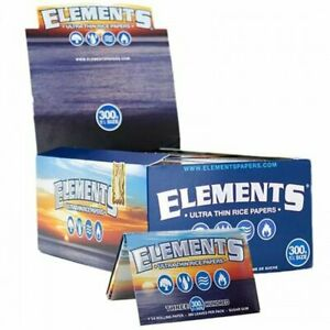 ELEMENTS 1 Box Elements 300x 1 1/4 (1.25) Rolling Paper Ultra Thin Rice  papers
