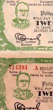 Philippines Iloilo 20 Pesos S318 S318x Misspelling Roosevelt/Roosavelt Banknote