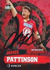 ✺Signed✺ 2015 2016 MELBOURNE RENEGADES Cricket Card JAMES PATTINSON Big Bash