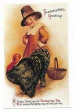 Vintage Greetings Postcard Thanksgiving Greetings Turkey Lillian Vernon 1992