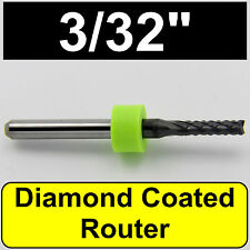 "Diamond Coated Router - 3/32"" 2.40mm - Carbon Fiber Ceramic Rogers FR4 CNC"