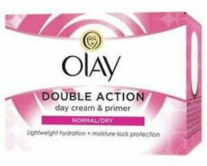 Olay Double Action Moisturiser: Day Cream & Primer 50ml Normal/dry skin. Bargain