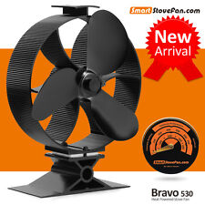 50℃ Start Heat Powered Stove Fan Eco Fan Wood Stove Top Fan with Thermometer